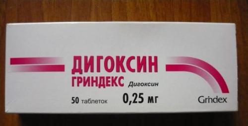 Препараты: сердечные гликозиды