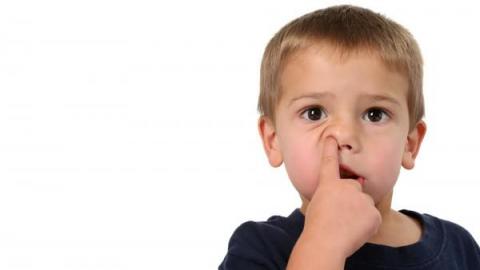 Ребенок ковыряет в носу